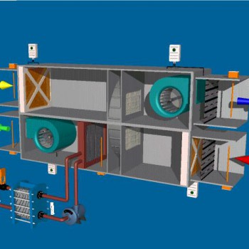 Energy recovery wheel AHU